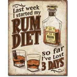 Plechová cedule Komu smrdí Rum Diet