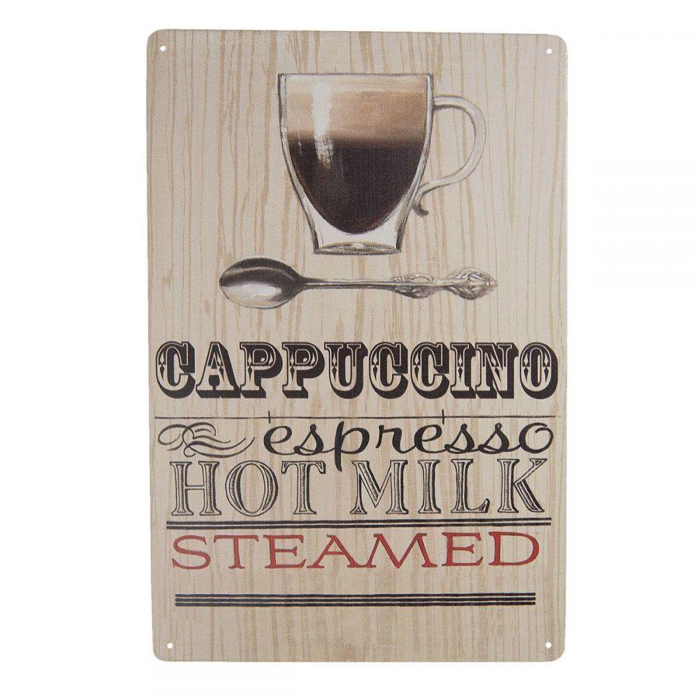 Plechová cedule Coffe - Cappuccino espresso