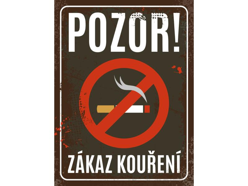 Plechová výstražná cedule - Zákaz kouření