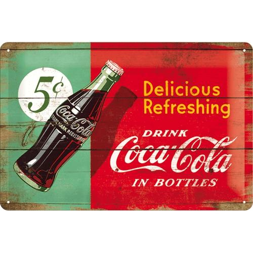 Plechová cedule Coca cola Delicious Refreshing