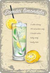 Plechová cedule Domácí limonáda