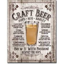 Plechová cedule Craft Beer