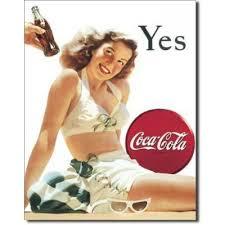 Plechová cedule Coca cola Yes