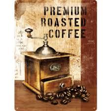 Plechová cedule káva Premium roasterd coffee