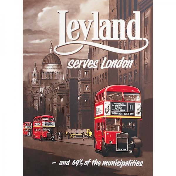 Plechová cedule Leyland - London bus použitý