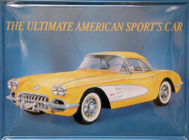 Plechová cedule American car - Corvette