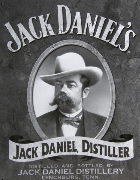 Plechová cedule Jack Daniels čb