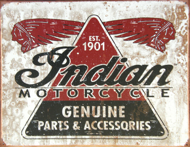 Plechová cedule moto Indian motorcycle