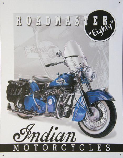 Plechová cedule motorka Indian motorcycle roadmaster