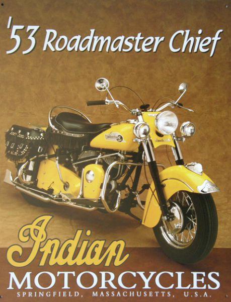 Plechová cedule motorka Indian motorcycle 53