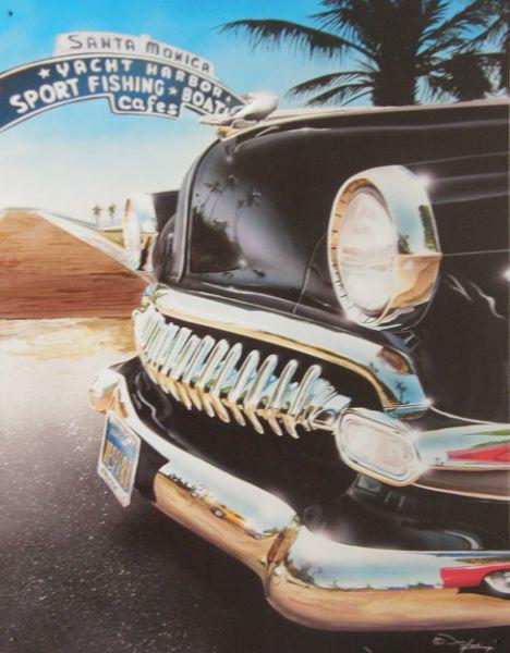 Plechová cedule auto Amerika - Santa Monica AKCE