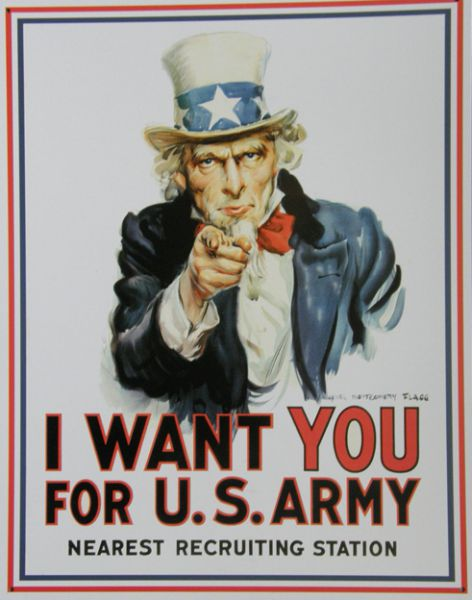 Plechová cedule I want you for U.S. army SUPER AKCE
