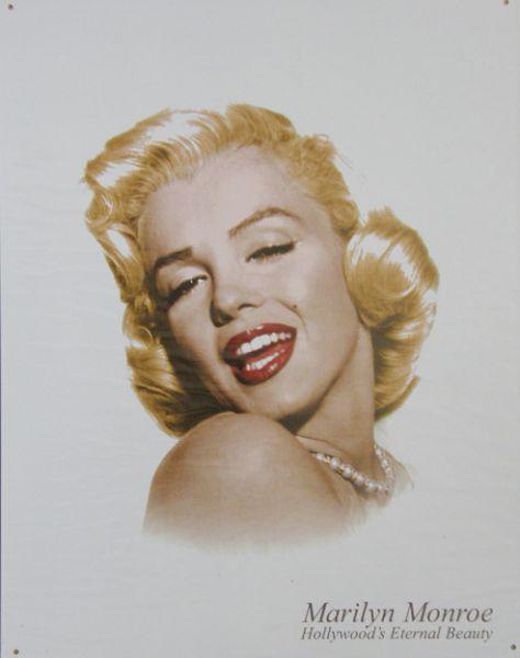 Plechová cedule Marilyn Monroe 3