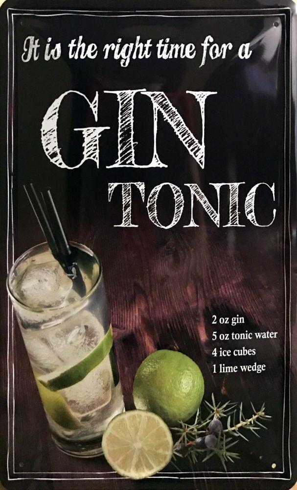 Plechová cedule Gin Tonic