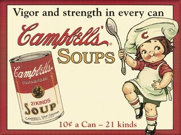 Plechový magnet Cambells´s soups
