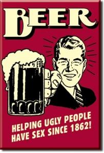 Plechový magnet Beer