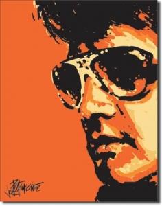 Plechová cedule Elvis retro