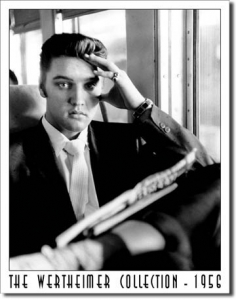 Plechová cedule Elvis The Wertheimer collection 1956 - retro cedule