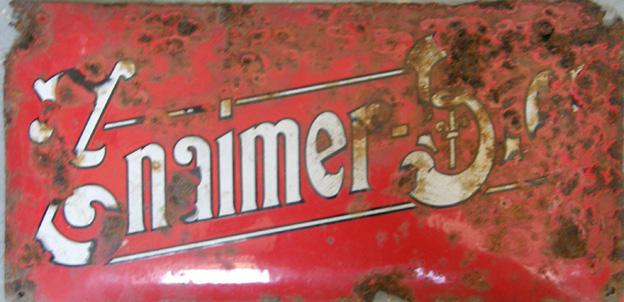 Starožitná originální cedule Znaimer Bier - pivo znojemský pivovar