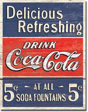 Plechová cedule Coca cola Delicious Refleshing