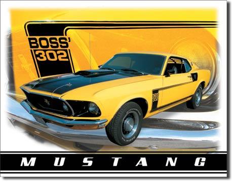 Plechová cedule auto Ford Mustang Boss