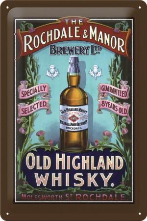 Plechová cedule Old Highland whisky