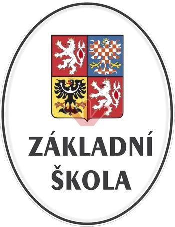 Smaltovaná cedule Základní škola se státním znakem
