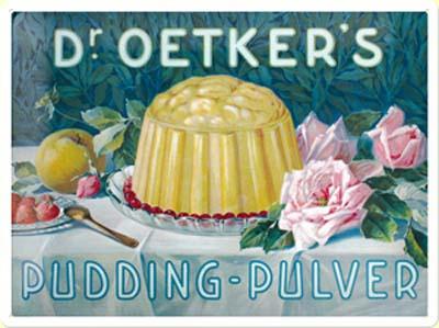 Plechová cedule Dr. Oetker's pudding - pulver