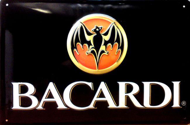 Plechová cedule Bacardi