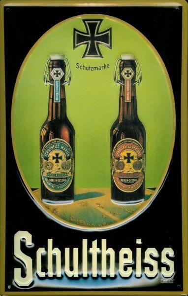 Plechová cedule pivo - Schultheiss