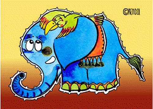Plechová cedule Slon