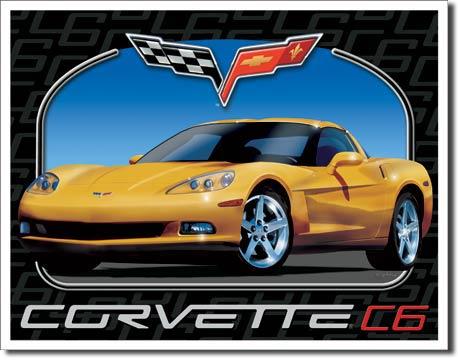 Plechová cedule auto Corvette C6