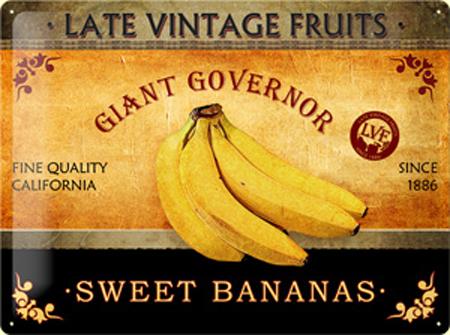 Plechová cedule Sweet bananas