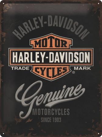 Plechová cedule moto Harley Davidson Genuine