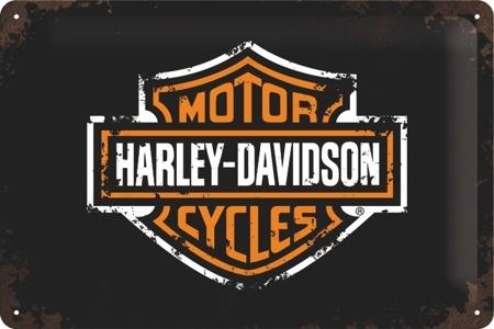 Plechová cedule moto Harley Davidson M