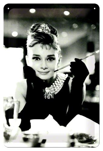 Plechová cedule Audrey Hepburn