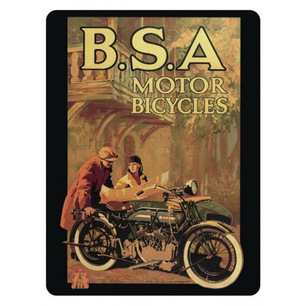Plechový magnet motorka BSA