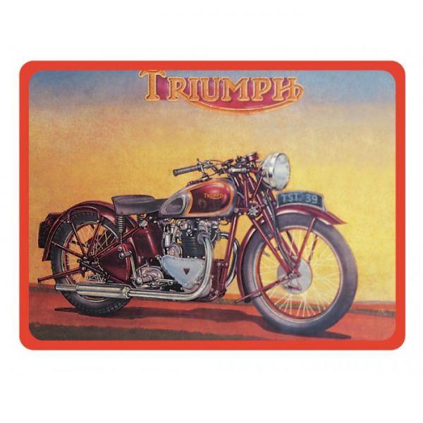 Plechová cedulka motorka Triumph