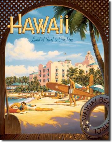 Plechová cedule Hawaii