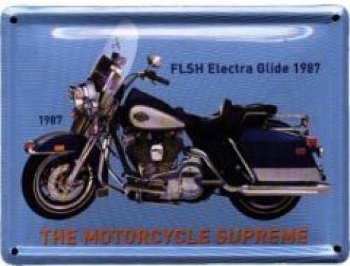 Plechová cedulka motorka FLSH Electra Glide 1987
