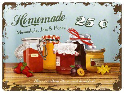 Plechová cedule Homemade - Marmeláda