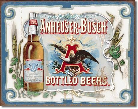 Plechová cedule pivo Budweiser - Anheuser - Busch