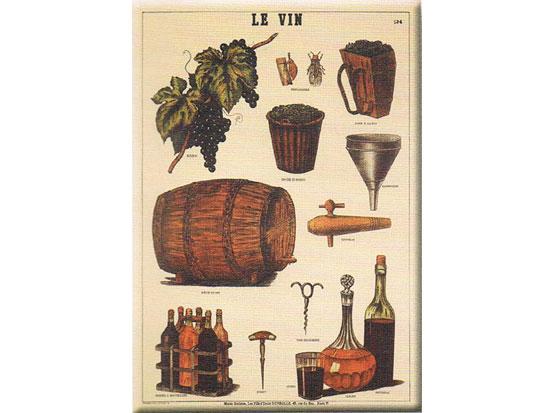 Plechová cedule Le vin - víno