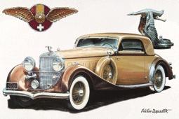 Plechová cedulka auto Hispano Suiza J12