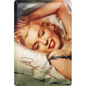 Plechová cedule Marilyn Monroe Signature