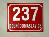 Smaltovaná cedulka Domovní číslo