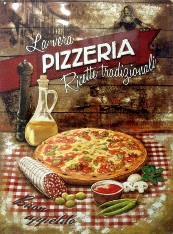 Plechová cedule La vera Pizzeria