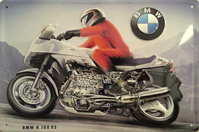 Plechová cedule motorka BMW 100 RS