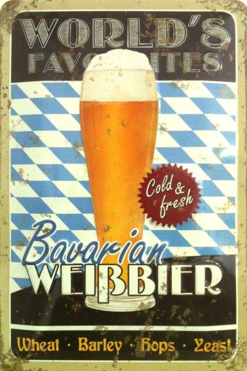 Plechová cedule pivo Bavarian weisbier