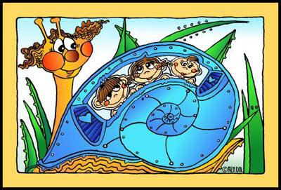 Plechová dětská cedule Šnek